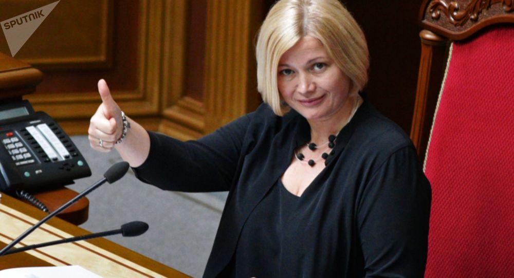 Wiceprzewodnicząca Rady Najwyższej Ukrainy Irina Geraszczenko na posiedzeniu Rady Najwyższej Ukrainy