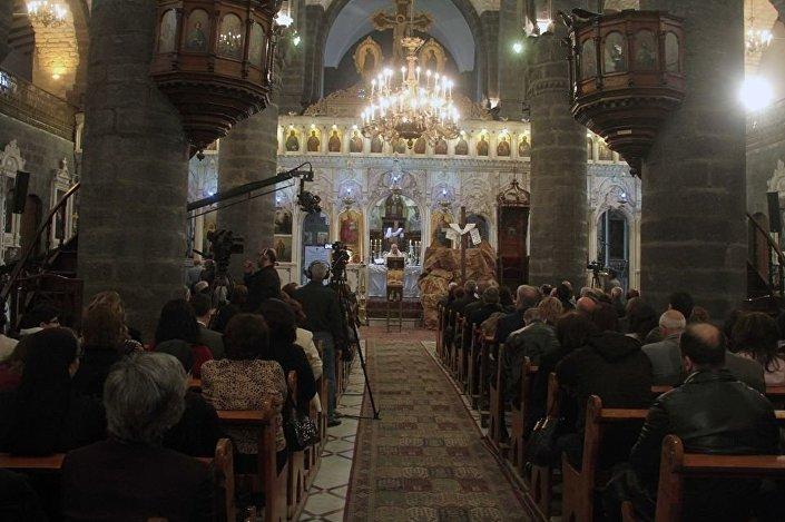 Chrześcijanie w Damaszku obchodzą Wielkanoc