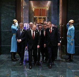 Prezydent Rosji Władimir Putin w Ankarze