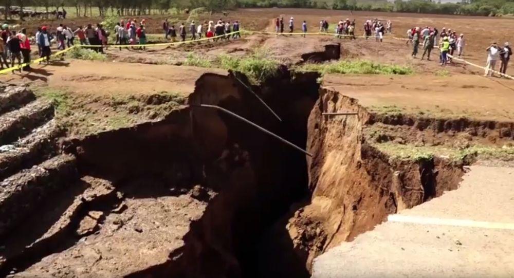 Rozryw ziemi w Afryce