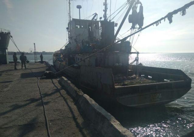 """Aresztowany statek rybacki """"Nord"""" w ukraińskim akwenie Morza Azowskiego"""