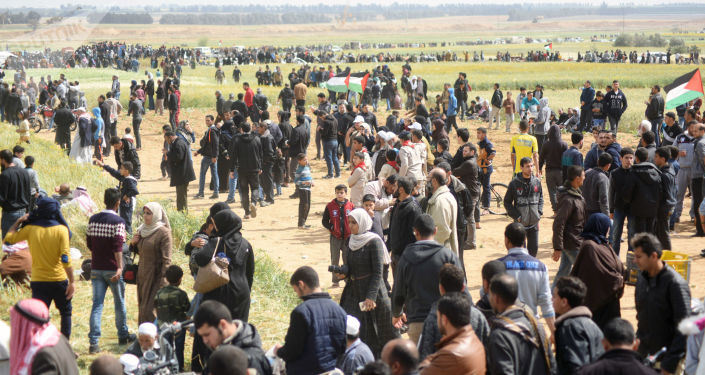 Palestyńczycy protestują w Strefie Gazy