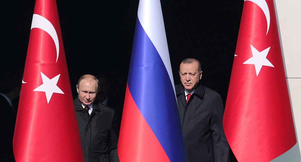 Prezydent Rosji Władimir Putin i prezydent Turcji Recep Tayyip Erdoğan