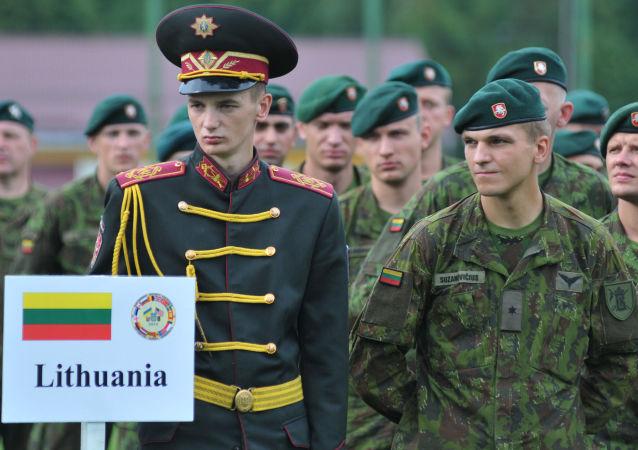 Litewscy żołnierze na Ukrainie