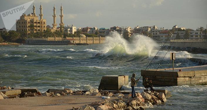 Widok na Latakię w Syrii