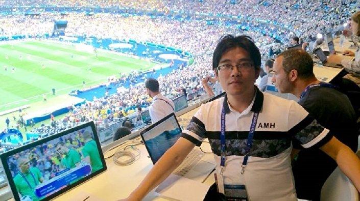 Chiński komentator sportowy