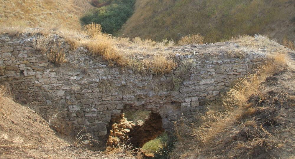 Część wałów i rowów, które zachowały się na Przesmyku Perekopskim
