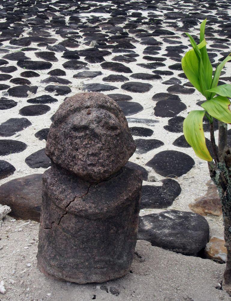 Marae - w kulturach polinezyjskich miejsce spotkań o charakterze sakralnym