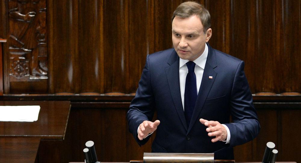 Prezydent RP Andrzej Duda wystąpił z pierwszym posłaniem w ...