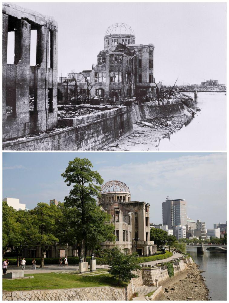Kopuła Bomby Atomowej (przed 1945r. centrum wystawowe) w Hiroszimie