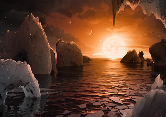 Nowa planeta odkryta w systemie TRAPPIST-1, wizualizacja
