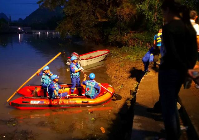 Do tragedii doszło podczas treningu na jednym z dopływów rzeki Gui Jiang w południowych Chinach w pobliżu miasta Guilin w autonomicznym regionie Kuangsi