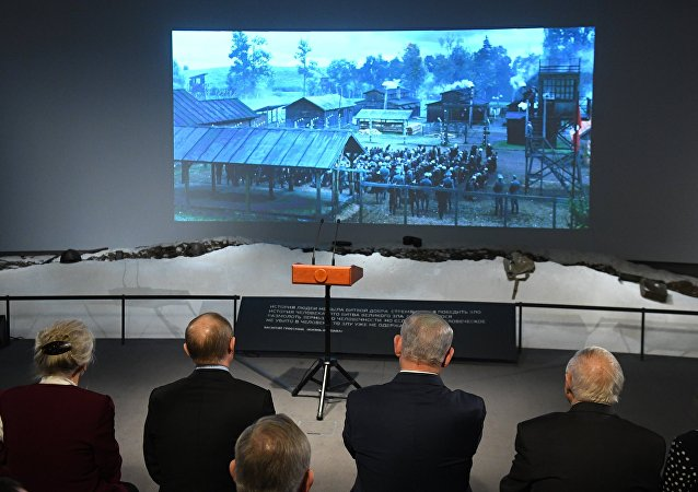 Władimir Putin i Benjamin Netanjahu oglądają film Sobibór