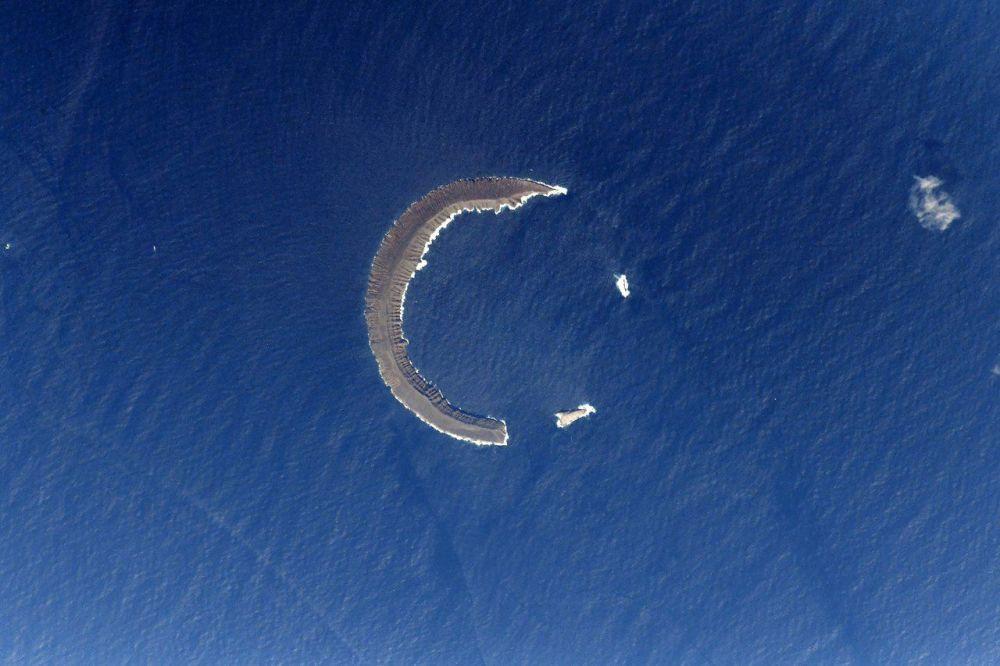 Tortuga – wyspa na Morzu Karaibskim widziana z MSK