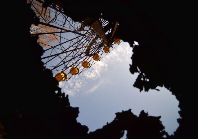 Ewakuowane miasto Prypeć w strefie elektrowni jądrowej w Czarnobylu