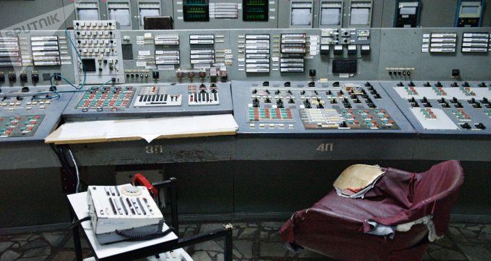 Pulpit sterowniczy w elektrowni w Czarnobylu