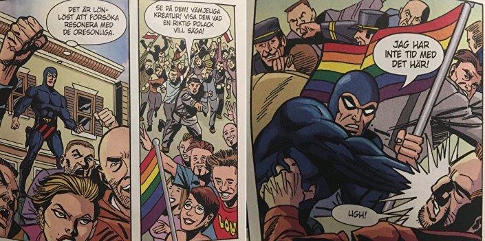 Komiks Fantomen o polskich nacjonalistach