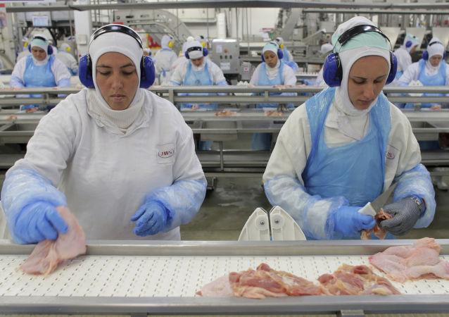 Zakład przetwórstwa mięsa w Brazylii