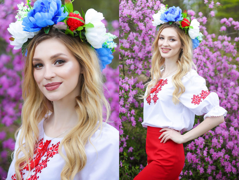 Uczestniczka konkursu piękności Królowa wiosna Białorusi Lubow Grinkiewicz