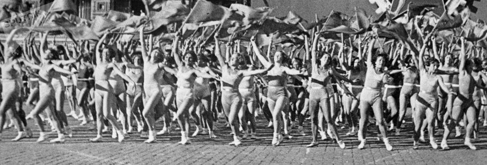 Parada sportowa na Placu Czerwonym, Święto Pracy, 1936 r.