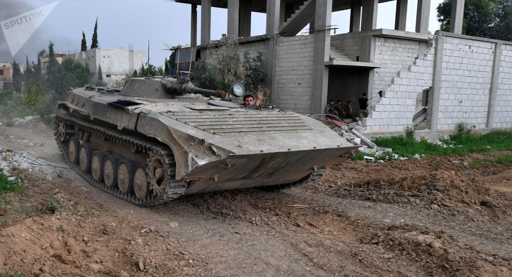 Sytuacja na przedmieściach Damaszku