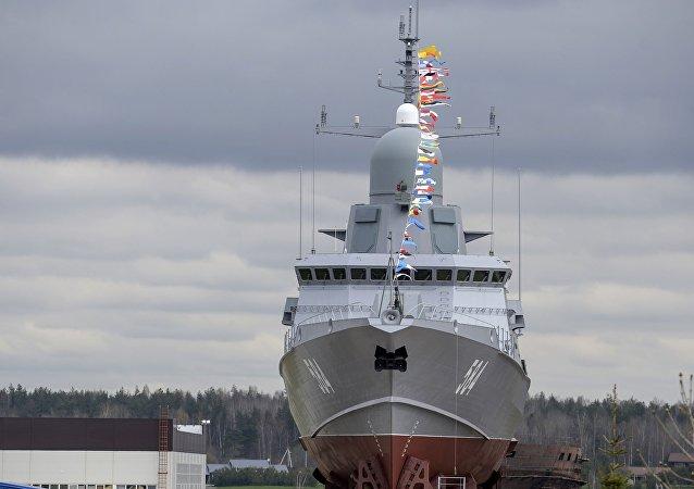 Wodowanie okrętu rakietowego Szkwał