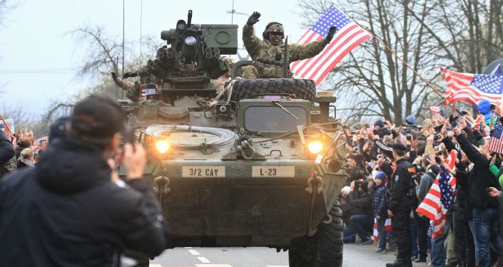 Amerykańskie Strykery w Pradze