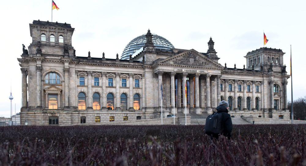 Budynek Reichstagu w centrum Berlina