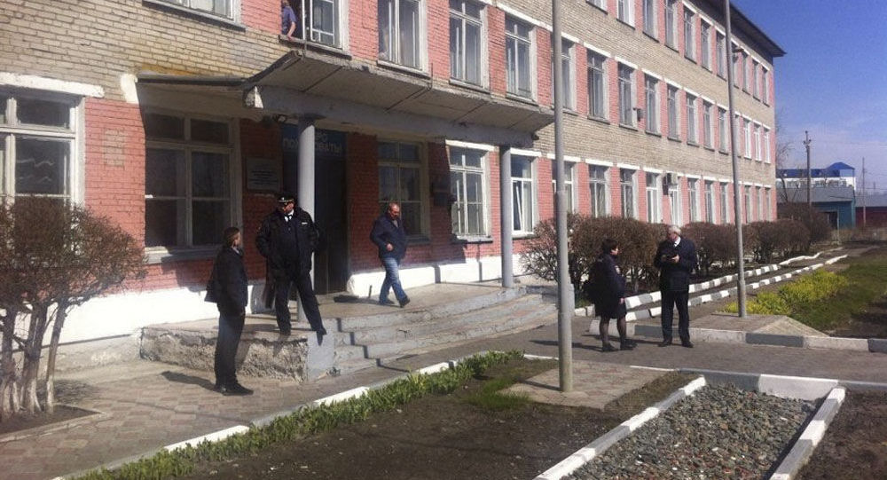 Budynek kolegium w obwodzie nowosybirskim, gdzie doszło do strzelaniny