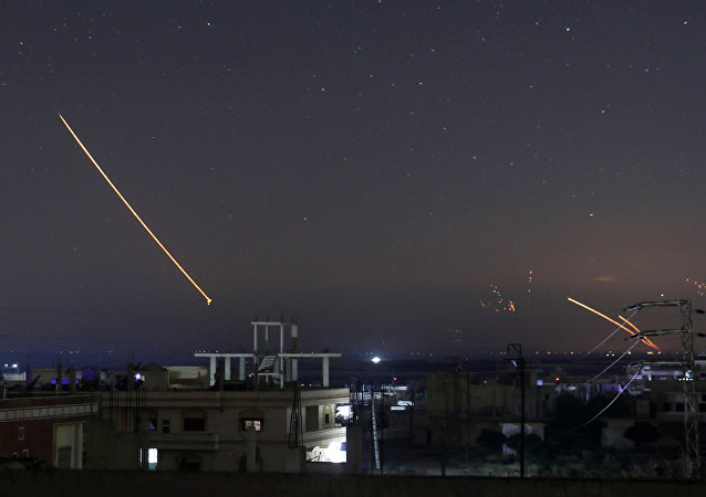 Widok z Damaszku na ataki rakietowe