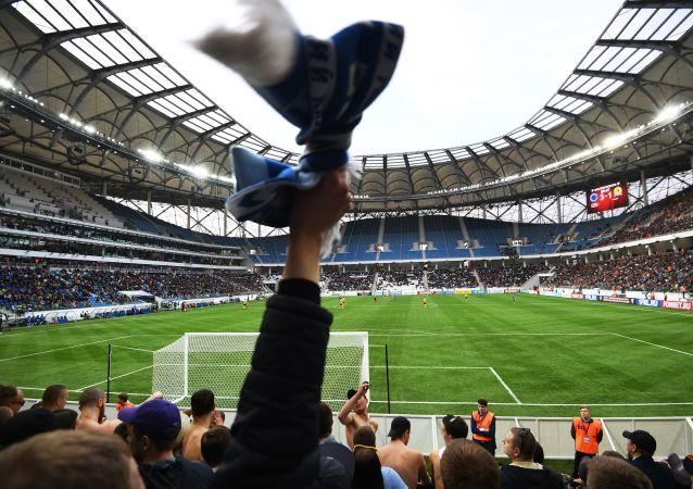 Mecz na stadionie Wołgograd Arena