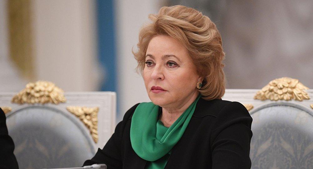 Przewodnicząca Rady Federacji Walentina Matwijenko.