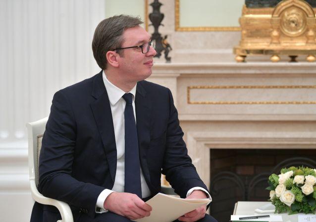 Prezydent Republiki Serbii Aleksandar Vučić