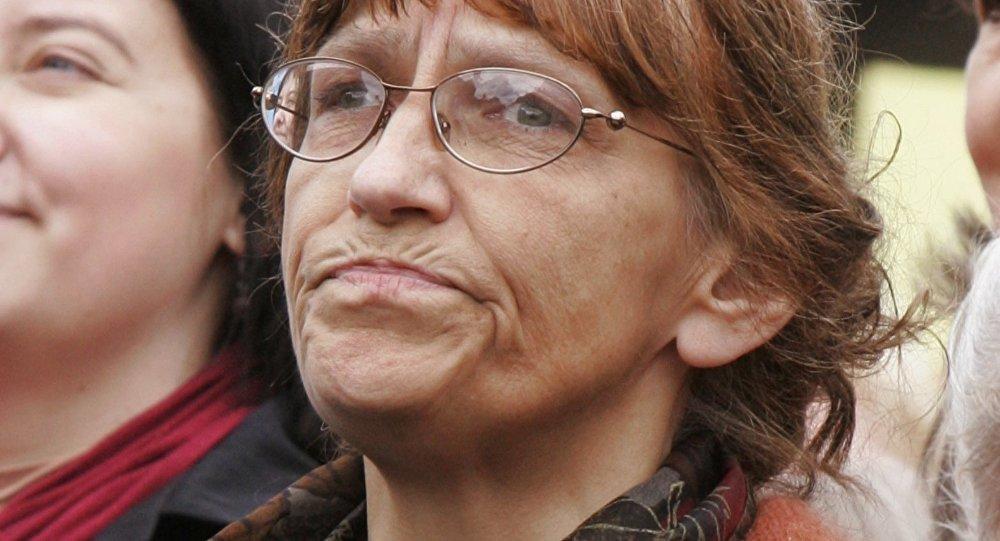Akcja protestacyjna nauczycieli i pracowników oświaty w Rydze