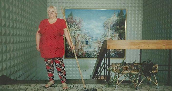 Kobieta z mopem