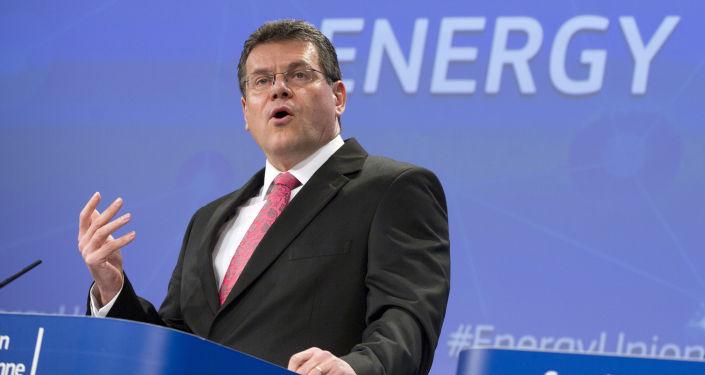 Europejski komisarz ds. energii Unii Europejskiej Maroš Šefčovič