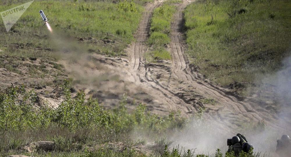 Testy systemów przeciwpancernych Javelin na Ukrainie