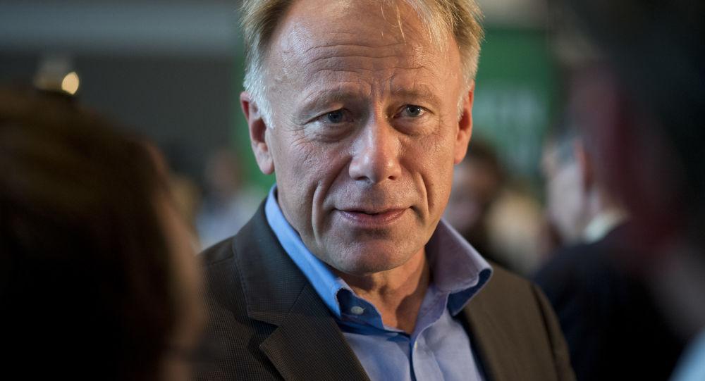 Szef zarządu partii Związek 90/Zieloni Juergen Trittin