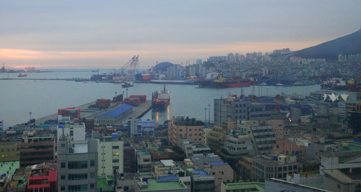 Port w Pusanie. Zdjęcie archiwalne