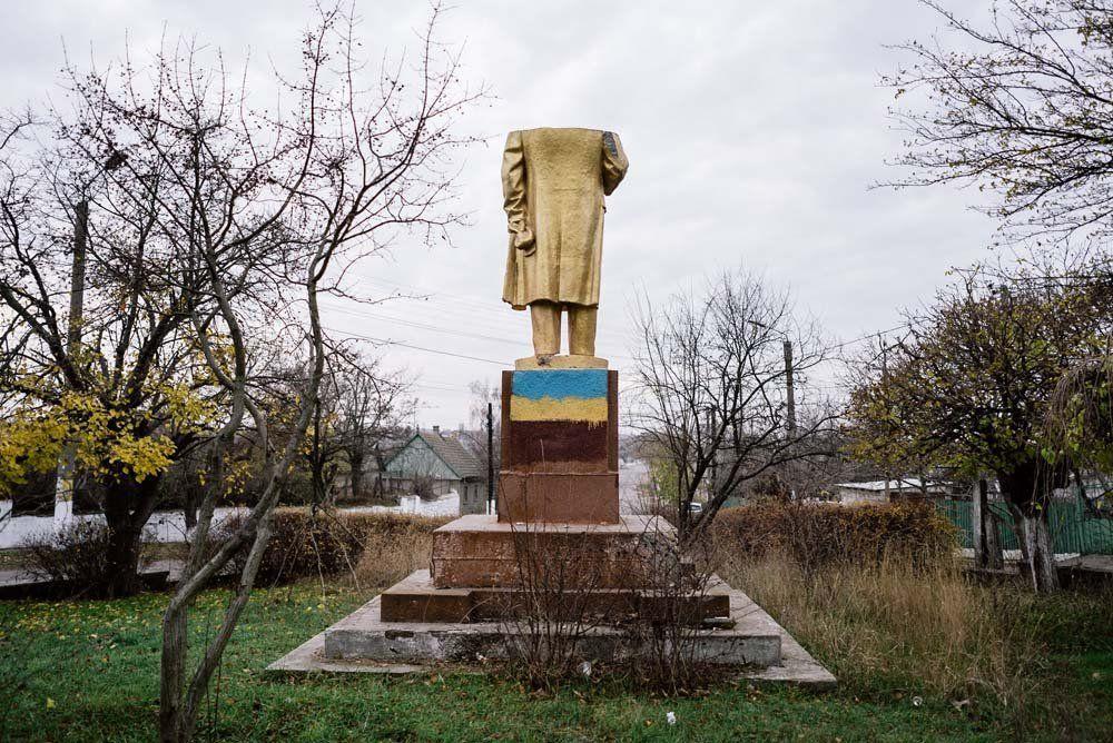 Szabo – wieś w południowo-zachodniej Ukrainie, 21.11.2015r. W poszukiwaniach Lenina