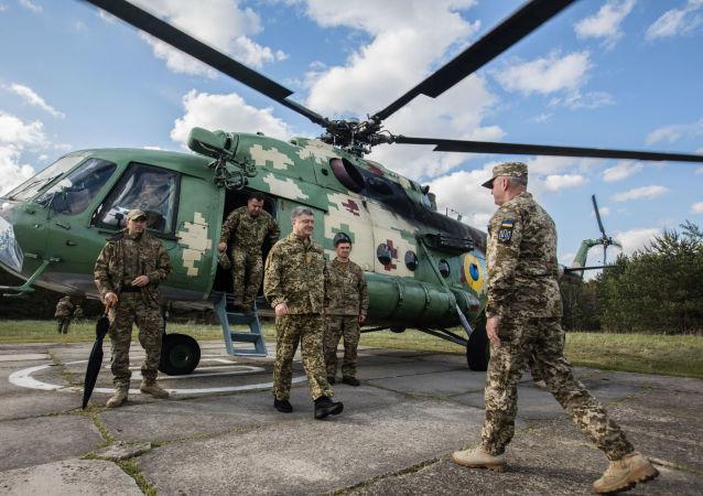 Testy amerykańskich Javelinów, prezydent Ukrainy Petro Poroszenko