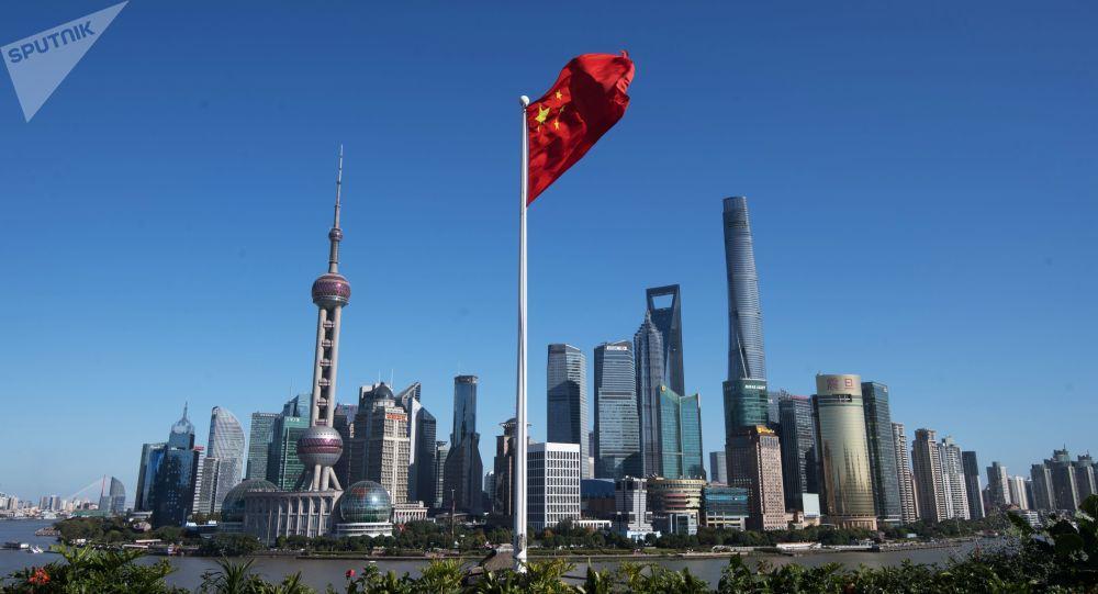 Dzielnica Pudong w Szanghaju w Chinach