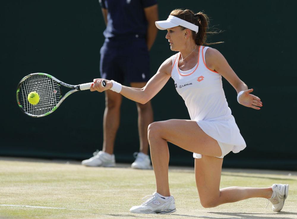 Polska tenisistka Agnieszka Radwańska podczas Wimbeldonu w Londynie