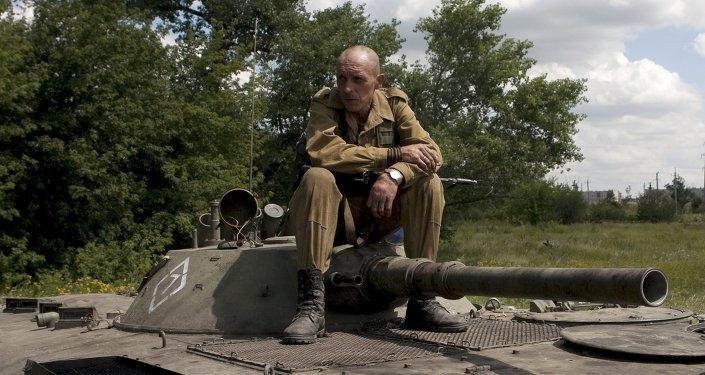 Żołnierz w Doniecku