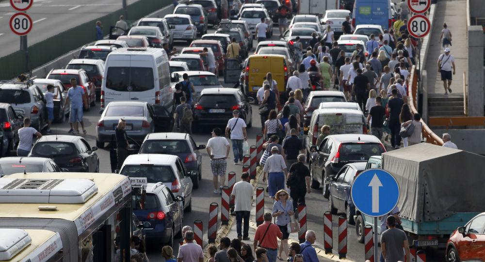 Protesty kierowców w Serbii