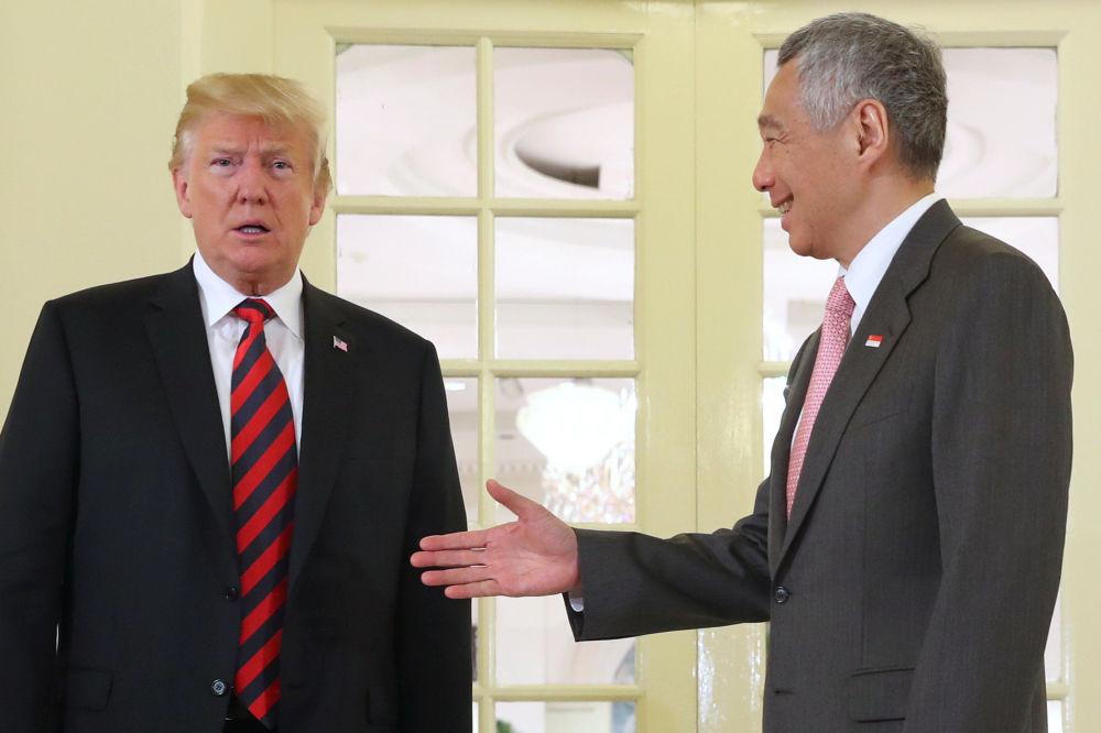 Donald Trump i premier Singapuru Lee Hsien Loong