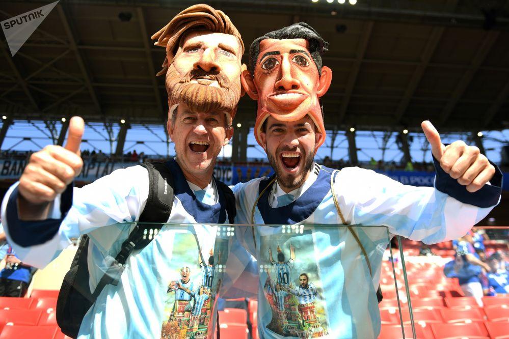 Kibice przed meczem Argentyna-Hiszpania