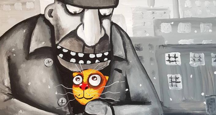 Rysunek rosyjskiego artysty Wasi Łożkina