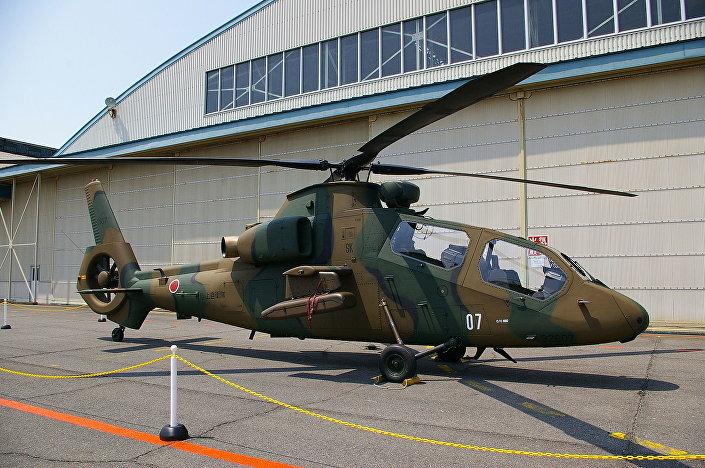 """Japoński śmigłowiec zwiadowczo-szturmowy OH-1 """"Ninja"""""""
