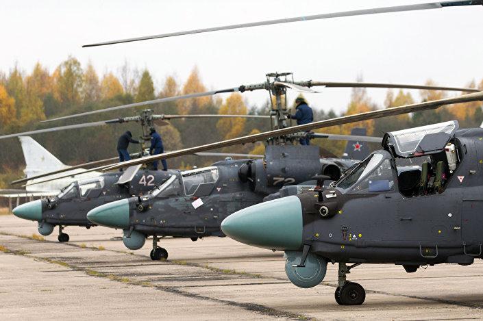 """Rosyjski Ka-52 """"Aligator"""""""